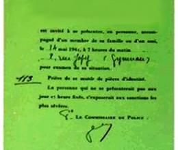 La rafle du billet vert à Paris le 14 mai 1941
